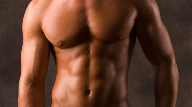 muscle working in men